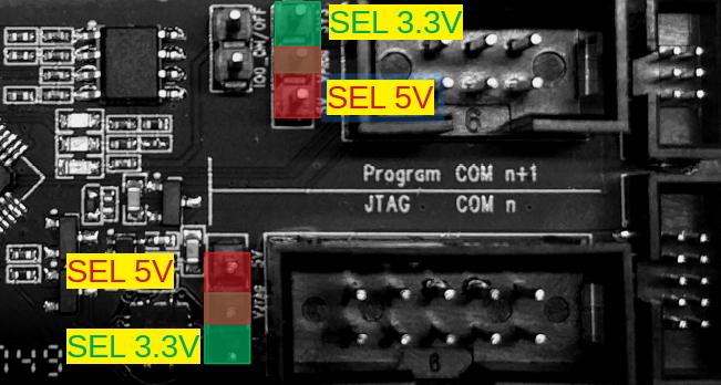 ESP-PROG 3.3v Power Selection Jumpers